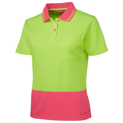 JBs Ladies Hi Vis S/S Comfort Polo