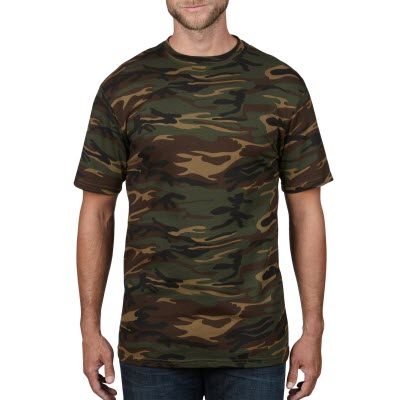 Anvil Adult Midweight Camouflage Tee Colours