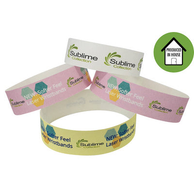 Full Colour 19mm Laser Printed Wristbands Local