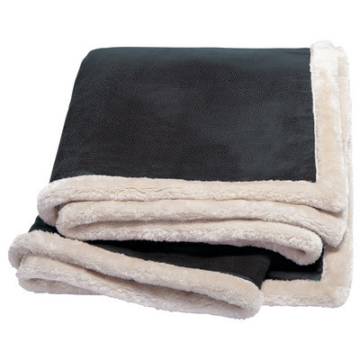 Kanata Faux Leather Throw