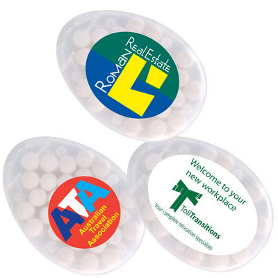 Sugar Free Breath Mints in Egg Shape Container