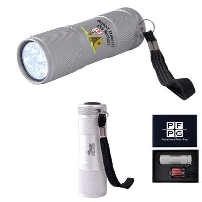 The Tube Silver Aluminium LED Torch