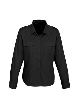 Ladies Epaulette Long Sleeve Shirt