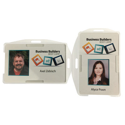 Rigid Clear double-sided Security ID card holder