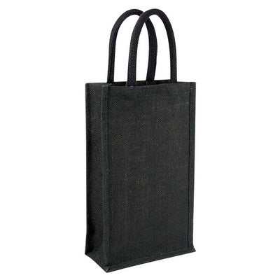 Jute wine bag - double