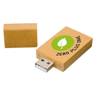 Recycled paper rectangle USB