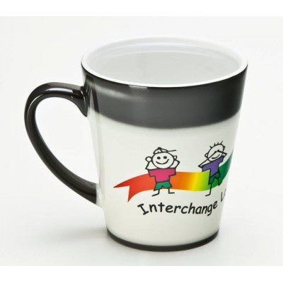 Latte Dye Sub Magic Charcoal/White Mug