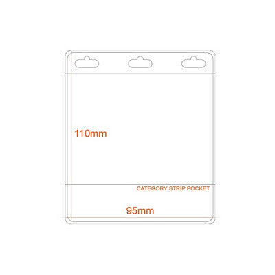Business Card Size Name Holder PVC Pocket with Category Strip