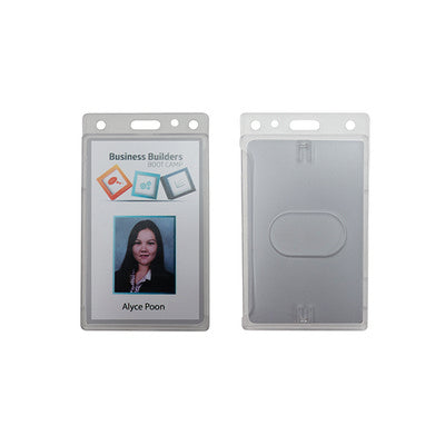 Rigid Frosted Security ID card holder -Portrait