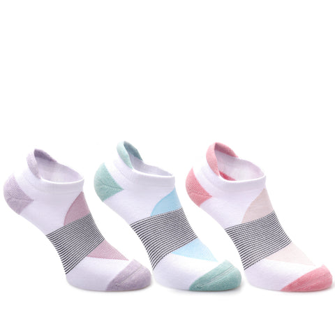 3 Pairs Cotton Cushioned No-Show Running Socks