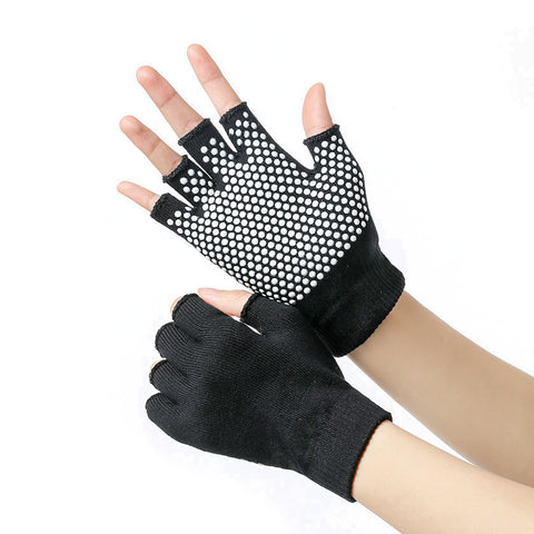 Cotton Non-Slip Yoga Grip Gloves