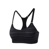 Adjustable Strap Glitter Yoga Sports Bra
