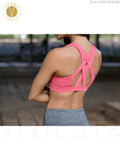 Thick Criss Cross Strappy Sports Bra