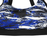 Open Back Patterned High Support Sports Bra