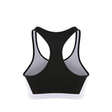 Front Zip Colour Block Run Sports Bra