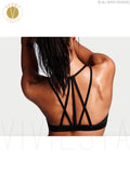 Strap Back Meshy Yoga Sports Bra