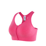 Anti-Shock Zipper Front Sports Bra