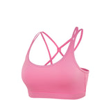 Strappy Elastic Wireless Comfort Sports Bra