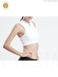 High Neck Zip Up Support Sports Bra