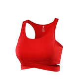 Cut-Out Criss-Cross High Impact Sports Bra