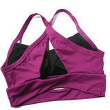 Cut Out Design Criss Cross Sports Bra