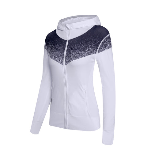 Gradient Zip Up Outdoor Sports Hoodie