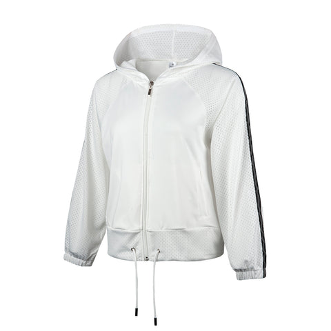 Hooded Crop Windproof Track Jacket