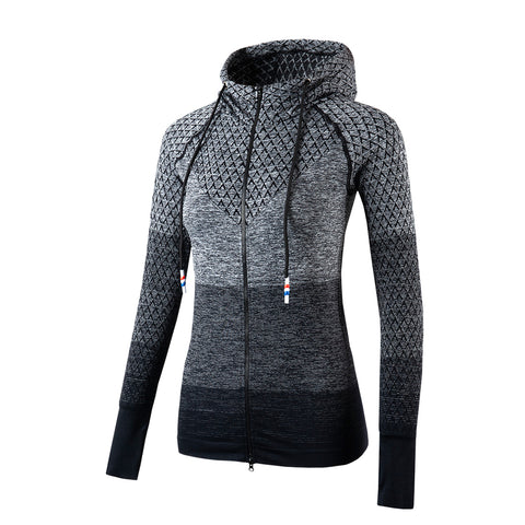Gradient Zip Up Yoga Sports Jacket