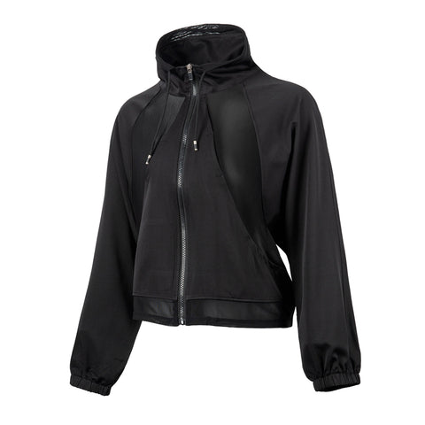 Mesh Relaxed Fit Lightweight Track Jacket