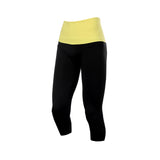 Ribbed High Waist Neon Training Capris