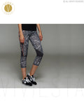 Stone Print Dry Fit Training Capris