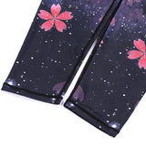 Sakura Print High Rise Yoga Sports Leggings