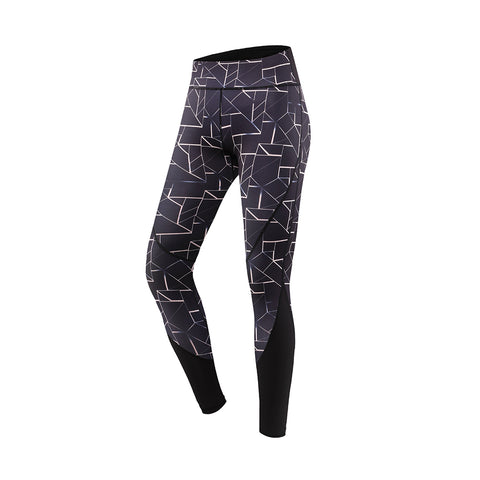Abstract Print High Rise Yoga Sports Leggings