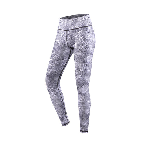 Needle Leaf Print High Rise Yoga Sports Leggings