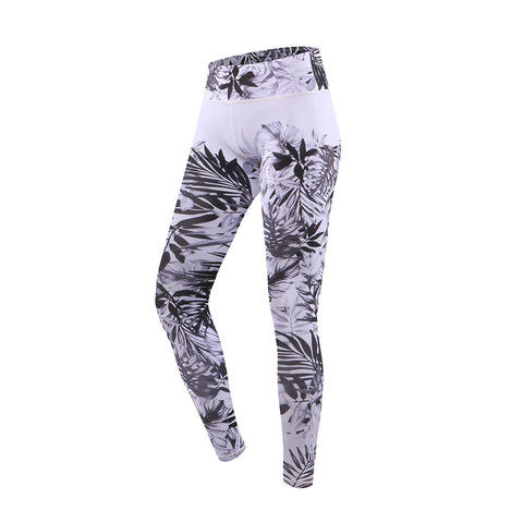 Leaf Print High Rise Yoga Sports Leggings