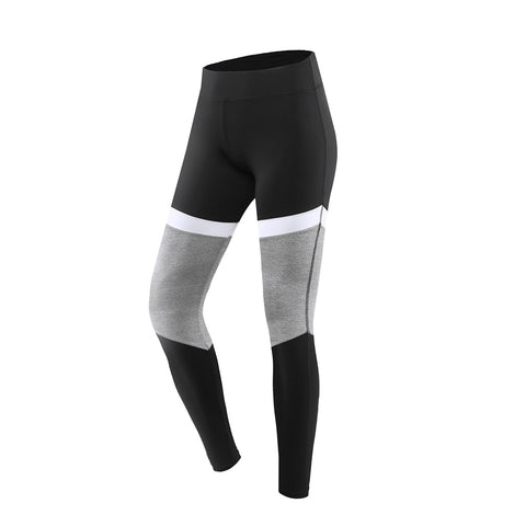 Tri-Color Panel Full Length Sports Leggings