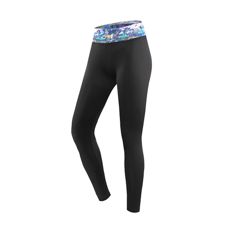 Floral Waistband Slim Fit Sports Leggings
