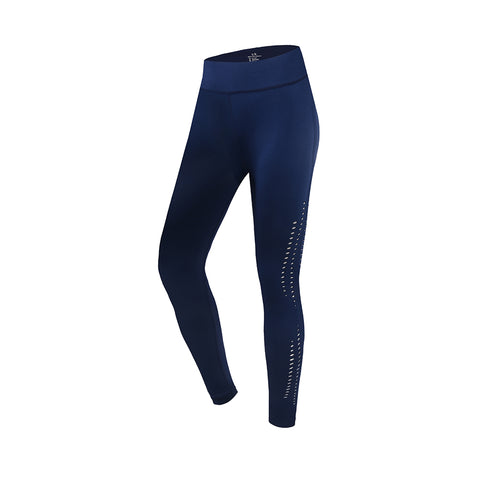 Laser Cutout High Waist Run Sports Tights
