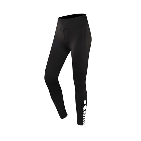 Lace-Up Cutout Full-Length Gym Leggings