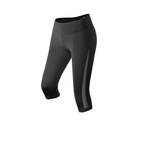 Side Mesh Panel Gym Capri Leggings