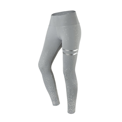 Reflective Print Gym Run Tights