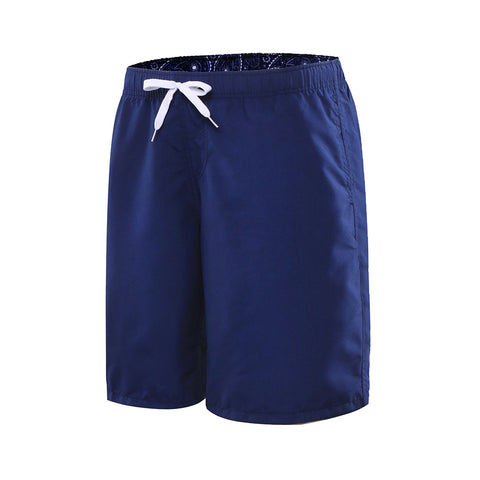 Men's Drawcord Knee-Length Swim Beach Shorts