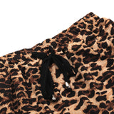 Leopard Print Drawcord Casual Beach Shorts