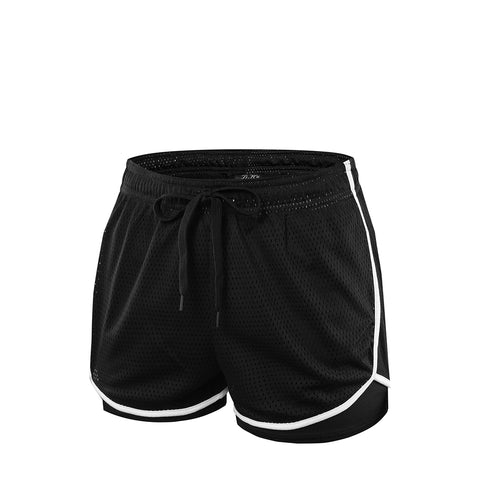 Mesh Running Sports Shorts With Liner