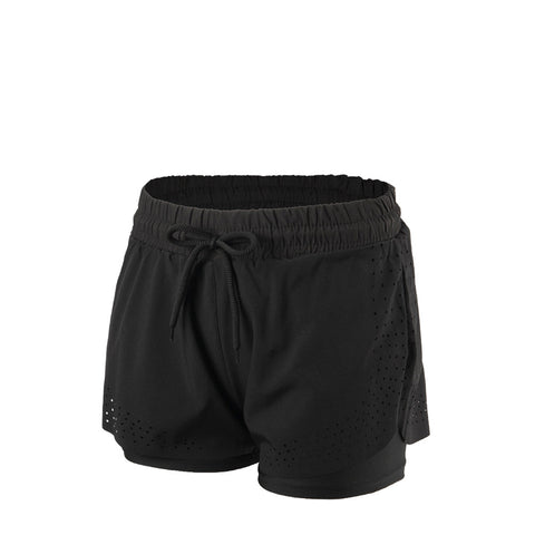 Laser Cut Dual Layer Drawcord Shorts