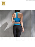 Strappy Racerback Yoga Tank With Shelf Bra