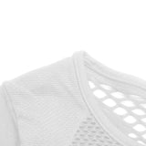 Seamless Mesh Net Gym Sports Tee