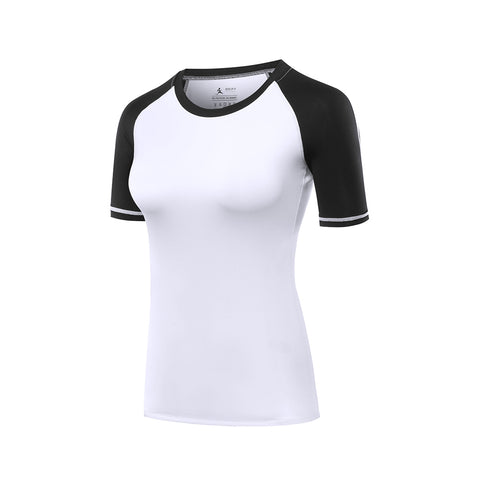 Slim Cut Contrast Outdoor Sports T-shirt