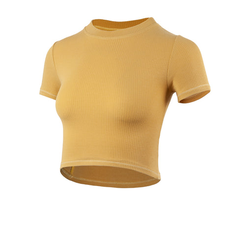 Ribbed Fit Sports Crop Top T-shirt