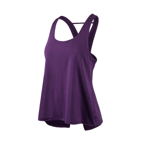 Basic Cross Back Sports Tank Top